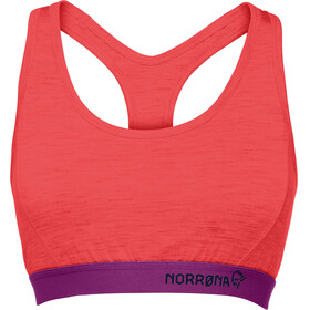 Norrøna Wool Crop Top Women Crisp Ruby